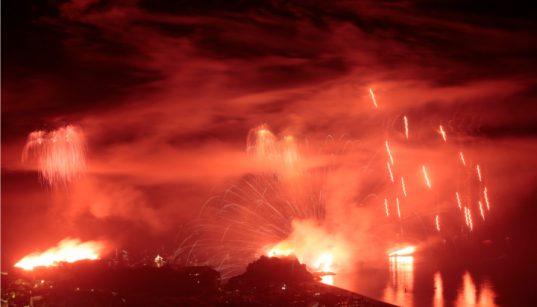 Fuegos artificales en el castillo 1